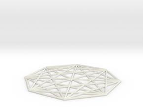 Octagram Star in White Natural Versatile Plastic