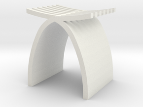 1:24 Capelli Stool in White Natural Versatile Plastic
