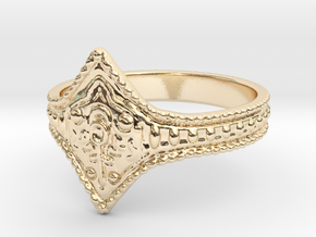 Ring of Favor and Protection in 14k Gold Plated Brass: 8.5 / 58