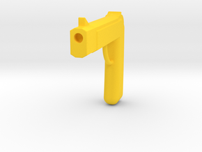 One Piece Fake Golden Pistols in Yellow Processed Versatile Plastic