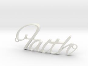 Faith Connector in White Natural Versatile Plastic