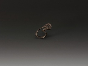 Single Wave in Matte Bronze Steel