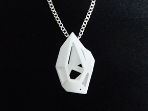 Cage Pendant  in White Natural Versatile Plastic