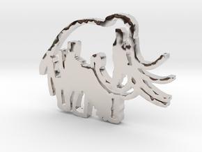 Caveman-designed Caveman Diet Keychain in Rhodium Plated Brass