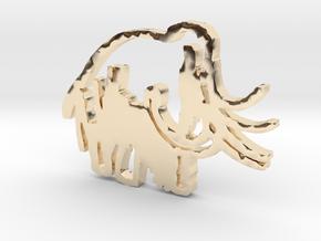 Caveman-designed Caveman Diet Keychain in 14K Yellow Gold