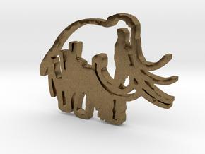 Caveman-designed Caveman Diet Keychain in Natural Bronze