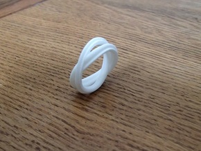 Ring size 8 in White Natural Versatile Plastic