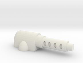 HotWheels scale machine Gun in White Strong & Flexible