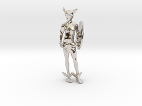Perseus in Rhodium Plated Brass
