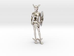 Perseus in Rhodium Plated Brass