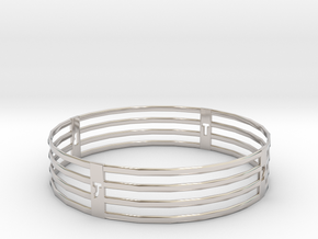Bangle Custom TB in Rhodium Plated Brass