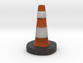 Traffic Cone Meme  in Full Color Sandstone