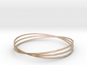 Bangle 1 in 14k Rose Gold Plated Brass