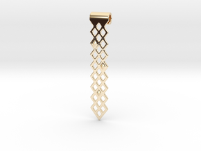 Diamonds Pendant in 14k Gold Plated Brass