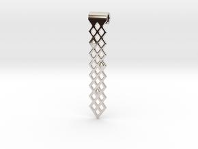 Diamonds Pendant in Rhodium Plated Brass