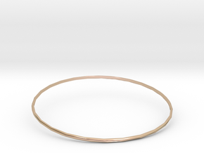 Bangle 6 in 14k Rose Gold Plated Brass