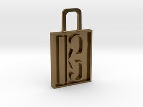 Alto Clef Zipper Pull Version 2 in Natural Bronze