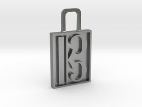 Alto Clef Zipper Pull Version 2 in Natural Silver