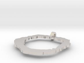 Vesuvius Pendant in Rhodium Plated Brass