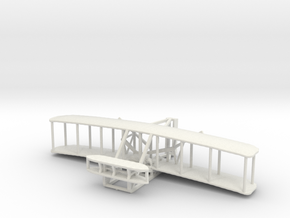 1903 Wright Flyer in White Natural Versatile Plastic: 1:200