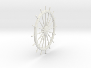 Ship's Wheel in White Natural Versatile Plastic