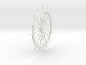 Ship's Wheel in White Strong & Flexible