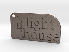 Light House Key Chain in Polished Bronzed Silver Steel