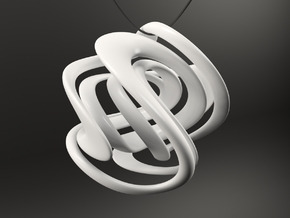LIMITLESS Necklace Pendant in White Processed Versatile Plastic