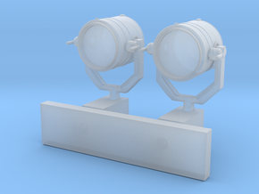 1:72 scale Search Light with Wall Stand in Smooth Fine Detail Plastic