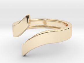 Open Design Ring (21mm / 0.82inch inner diameter) in 14k Gold Plated Brass