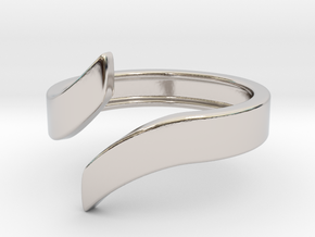 Open Design Ring (22mm / 0.86inch inner diameter) in Rhodium Plated Brass