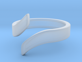 Open Design Ring (22mm / 0.86inch inner diameter) in Smooth Fine Detail Plastic