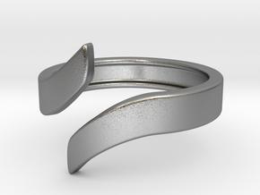 Open Design Ring (25mm / 0.98inch inner diameter) in Natural Silver