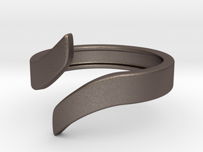 Open Design Ring (26mm / 1.02inch inner diameter) in Polished Bronzed Silver Steel