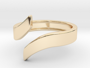 Open Design Ring (27mm / 1.06inch inner diameter) in 14k Gold Plated Brass