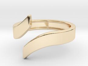 Open Design Ring (28mm / 1.10inch inner diameter) in 14k Gold Plated Brass