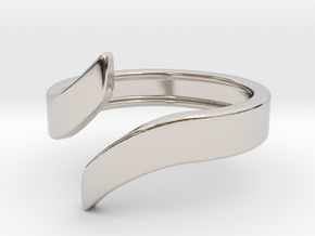 Open Design Ring (30mm / 1.18inch inner diameter) in Rhodium Plated Brass