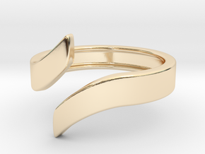 Open Design Ring (30mm / 1.18inch inner diameter) in 14k Gold Plated Brass