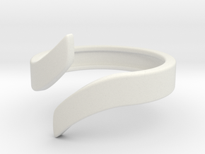 Open Design Ring (30mm / 1.18inch inner diameter) in White Natural Versatile Plastic