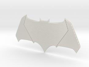 Batman Emblem - DOJ in White Natural Versatile Plastic