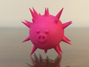 Blowfishpig in Pink Strong & Flexible Polished
