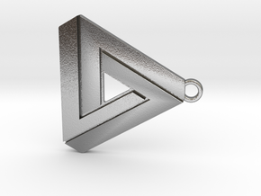 Penrose triangle hanger in Natural Silver