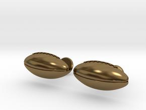Football Cufflinks in Polished Bronze