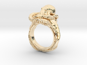 Octopus Ring in 14K Yellow Gold