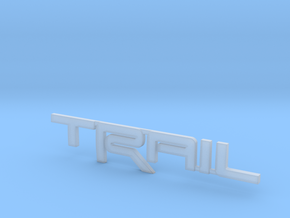 Trail Emblem Revision 02 in Smooth Fine Detail Plastic