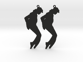 Michael Jackson Earrings Ver.3 in Black Natural Versatile Plastic