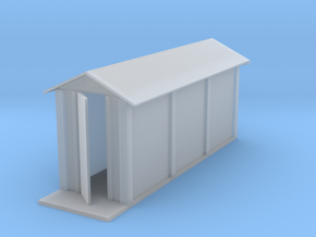 Prefabricated concrete relay hut - No Stand (HO) in Smooth Fine Detail Plastic