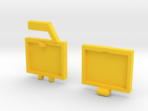 idw: Briefcase style B in Yellow Strong & Flexible Polished