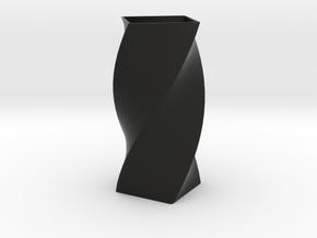 Vase Twirl in Black Natural Versatile Plastic