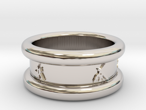 Salsa Ring 1 Ø 18.2 mm 57 in Rhodium Plated Brass